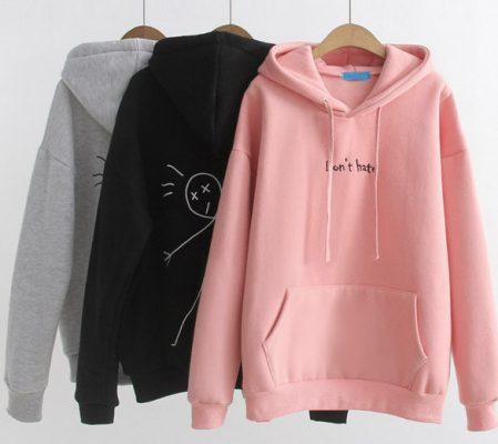 áo hoodie nữ in hình họa tiết dễ thương