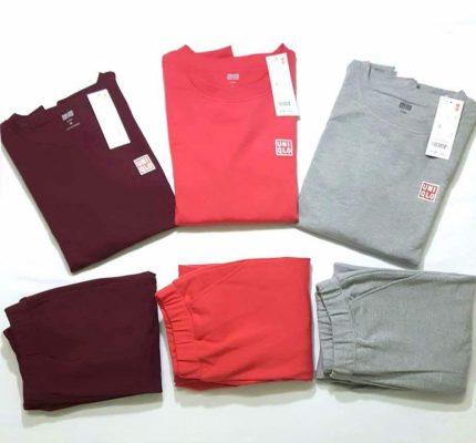 Bộ quần áo nỉ Uniqlo nữ đa dạng nhiều màu sắc
