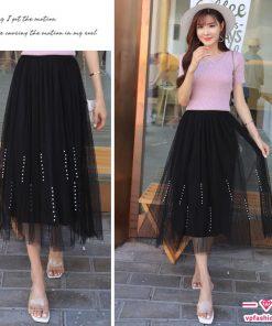 chân váy ren đính hạt đẹp nữ tính