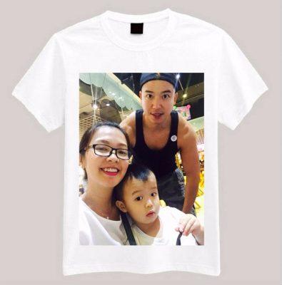 Hình ảnh gia đình được in nhiều trên đồng phục gia đình