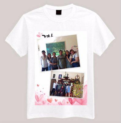 Hình ảnh gia đình được in nhiều trên áo phông