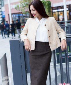 Chân váy bút chì áo khoác