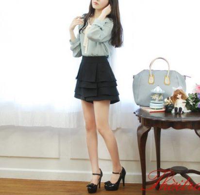 Mẫu chân váy xòe dáng ngắn đẹp