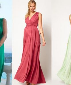 Mẫu váy bầu maxi dự tiệc cuốn hút ánh nhìn