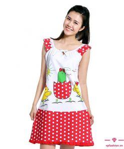 Đầm suông mặc nhà họa tiết siêu cute