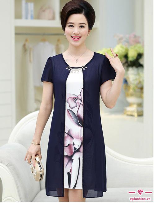 Mẫu váy suông thời trang công sở trung niên đẹp