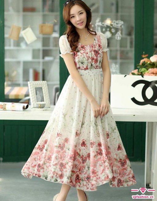 Mẫu váy maxi chuẩn đẹp