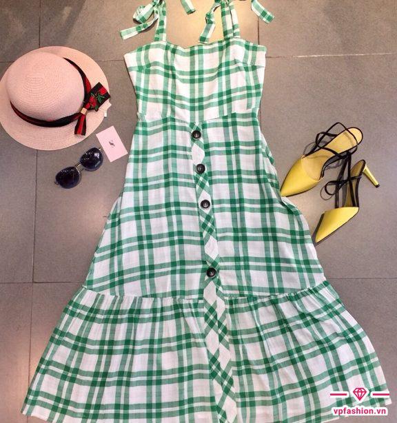 váy maxi 2 dây đuôi cá đẹp