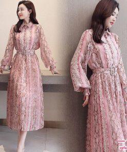 Váy maxi chiết eo đẹp kiêu sa