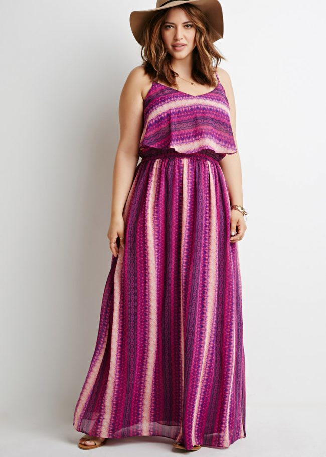 Mẫu Váy maxi đẹp cho người béo