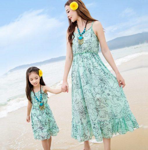 Váy maxi đôi cho mẹ và bé