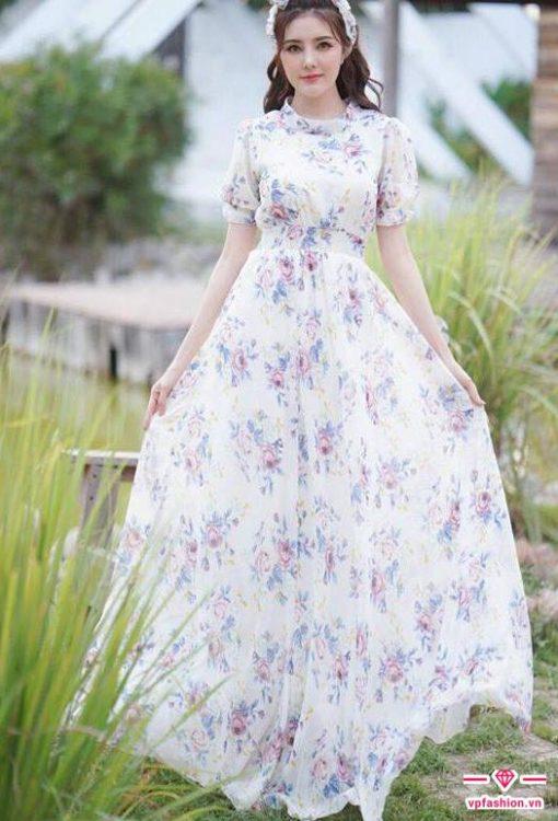 váy maxi họa tiết hoa đẹp cho người caováy maxi họa tiết hoa đẹp cho người cao